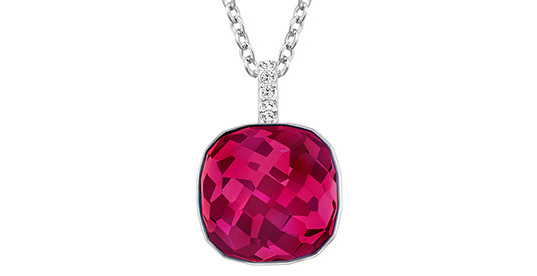 Beating Ruby Swarowski ruby like crystal pendant giveaway