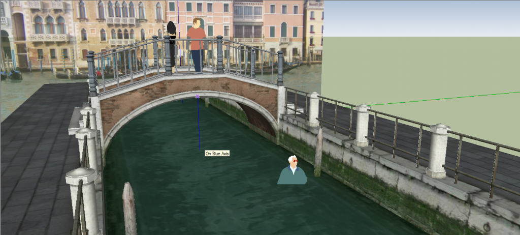 Use of 3D in Spotless #3, Crystal Whisperer - A Venice Canal