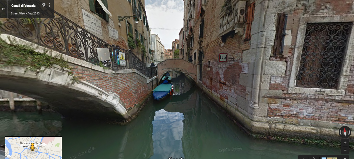 Use of street maps in Crystal whisperer - A Venice Canal