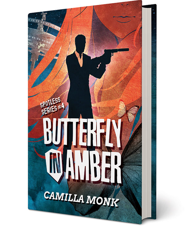 Butterfly in Amber, a novel by Camilla Monk