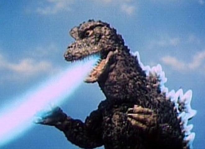 Godzilla spitting out